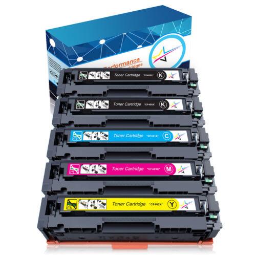 5pk toner cartridge cf400a 201a black color