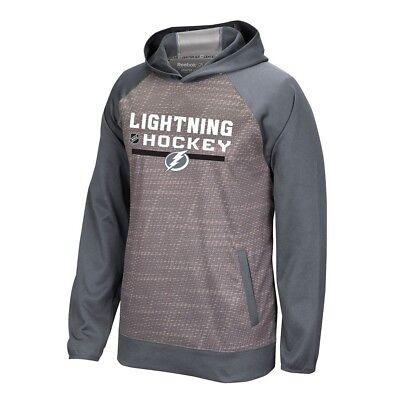 Tampa Bay Lightning Cabinet - Tampa Bay Lightning Reebok Center Ice TNT Authentic Locker Pullover Hoodie Men's