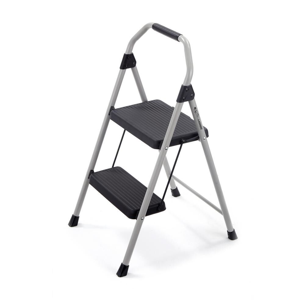 Gorilla Ladders Compact Step Stool Ladder Chair 2 Steps Fold