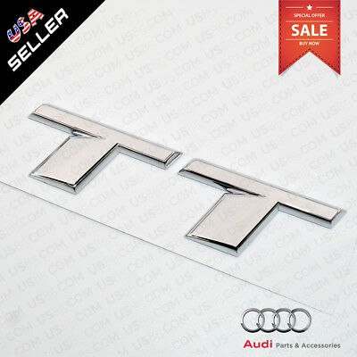 Car 3D OEM ABS Auto Emblem Audi TT Chrome Logo Sticker Rear Tail Badge Trunk 16
