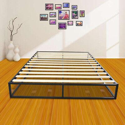 Portable Queen Size Wooden Slat Metal Bed Frame Platform Mattress (Portable Platform)