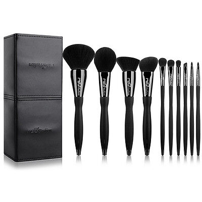 MSQ Professional 10PCs Makeup Brushes Set Powder Cosmetic Tool Cylinder Magnetic