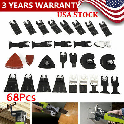 68pcs Oscillating Multitool Saw Blade Kit Set Multi Tool