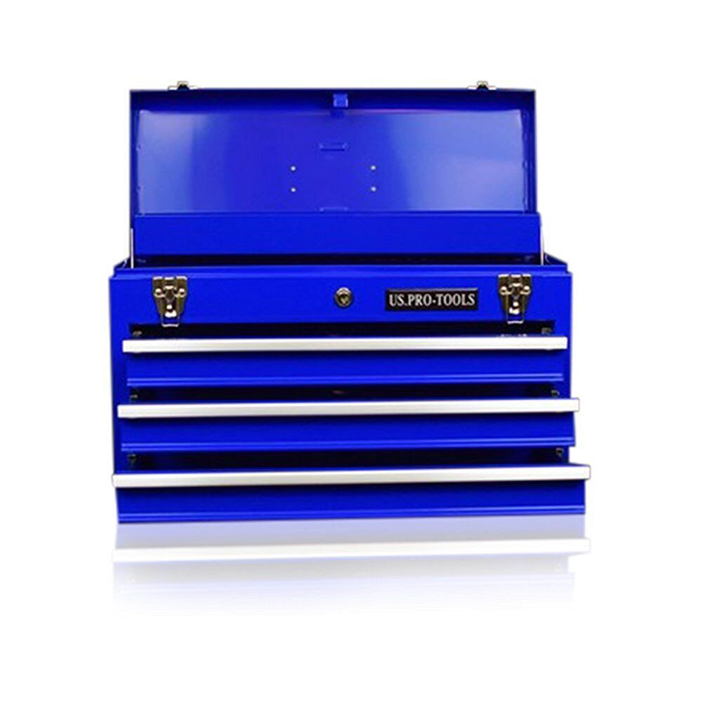 45 us pro tools portable toolbox tool chest box cabinet garage steel 4 drawers. Black Bedroom Furniture Sets. Home Design Ideas