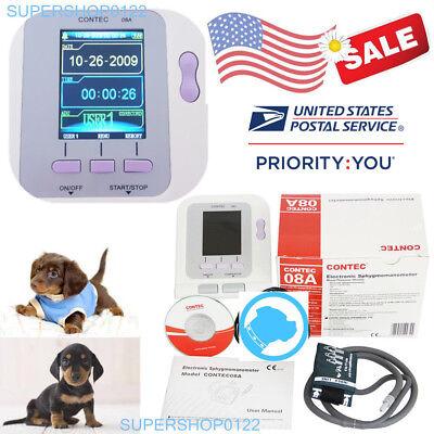 Us Seller Fda Contec08a-vet Veterinary Digital Blood Pressure Monitor Nibp Cuff