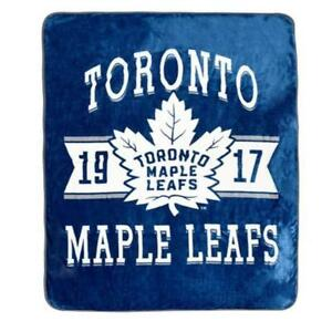 "NHL Luxury Velour Blanket - Toronto Maple Leafs Soft Cozy 60"" x 80"""