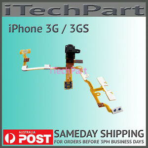 New Black Headphone Audio Jack Flex Ribbon Cable Replacement Part for iPhone 3GS
