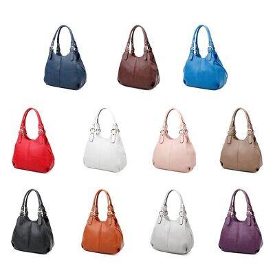 Women's Long Handle Soft Leather Shoulder Bag Tote Bag Bucket Hobo Bag Handbag