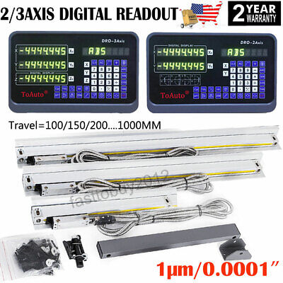 Linear Scale 23 Axis Digital Readout Dro 1m Ttl Glass Encoder For Mill Lathe