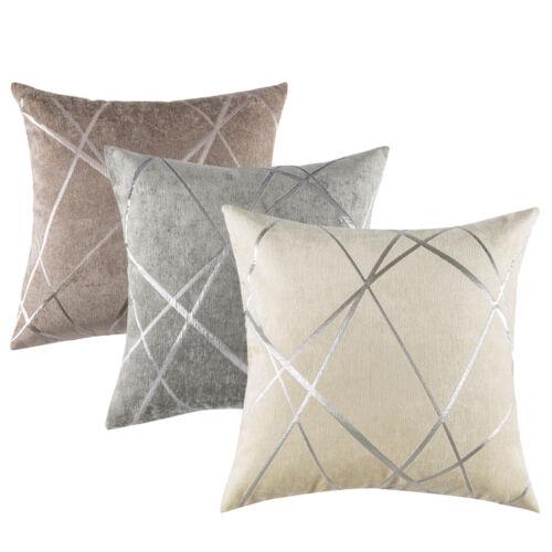 luxury chenille pillow case geometric sofa waist