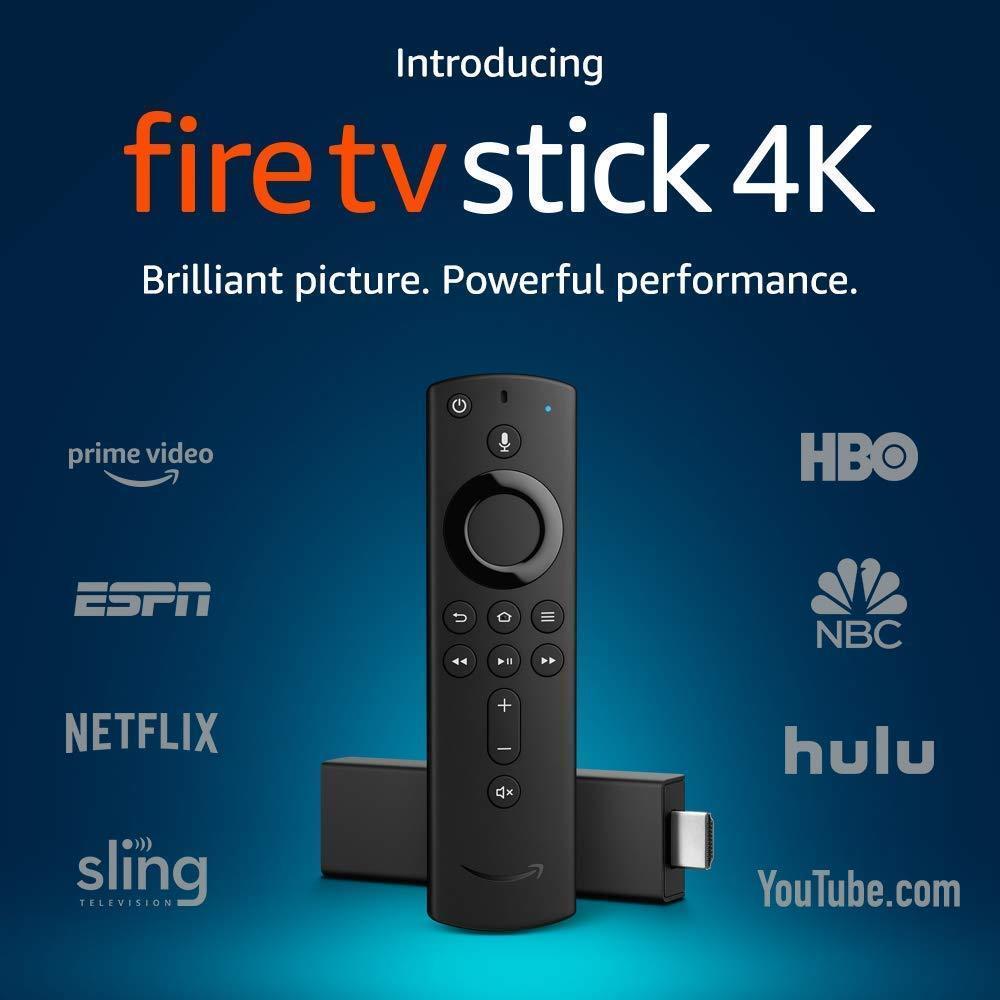 NEW Amazon Fire TV Stick 4K w/ Alexa Voice Volume Remote, La