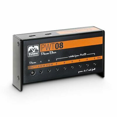 Palmer PWT 08 Universal 9V Pedalboard Power Supply 8 Outputs