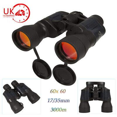 Day/ Night 60x60 Military Zoom Binoculars Optics Hunting Camping Telescope UK