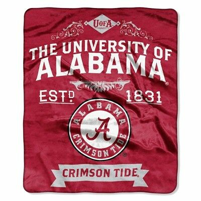 Alabama Crimson Tide Plush Throw - Alabama Crimson Tide 50