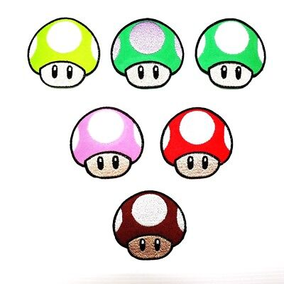 Retro Old School Mushroom 80s 90s Game Cartoon DIY Clothes Jacket Iron on Patch](Old School Clothes 80s)