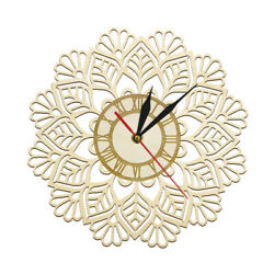 Snowflake Wooden Wall Clock Watch Winter Christmas Snow Wall Holiday Home Decor