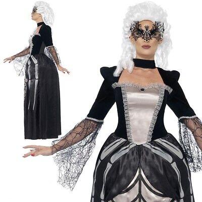 Damen Schwarze Witwe Baroness Kostüm Verkleidung Erwachsene Modisches - Verkleidung Schwarze Witwe Kostüm
