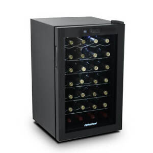 CyberCool Single Zone Thermoelectric Wine Cooler - 28 Bottles