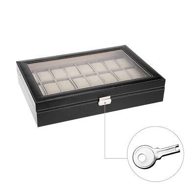 24 Uhren Uhrenboxen Uhrenetui Uhrenkasten leder leather Watch Display Case Box