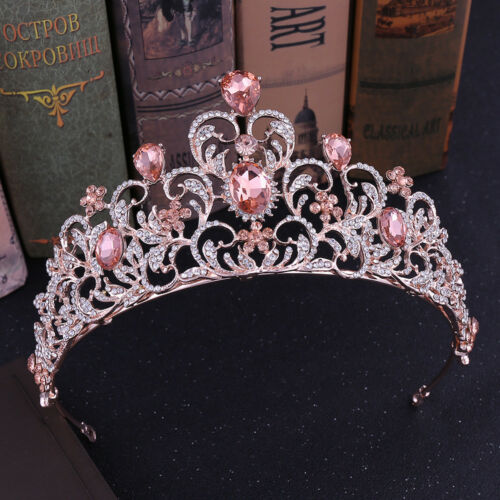 7.3cm High 7 Colors Heart Crystal Wedding Bridal Party Pageant Prom Tiara Crown