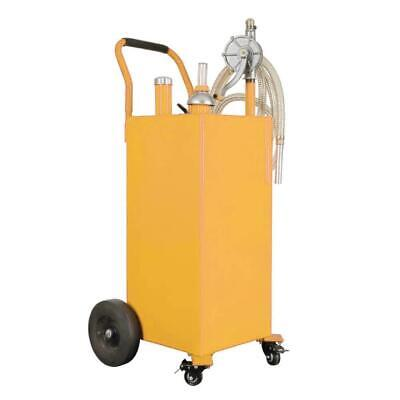 35 Gallon Gas Fuel Diesel Caddy Transfer Tank Container Large Capacity W Wheels