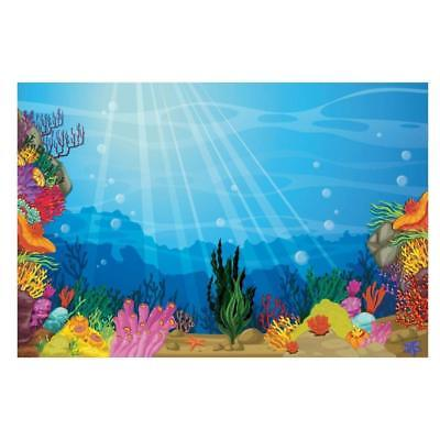 Under the Sea Backdrop Banner (9 ft. x 6 ft.) Plastic - Under The Sea Backdrop