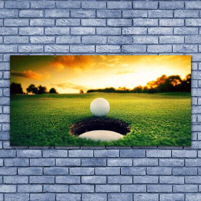 Tulup Imagen en vidrio Impresión Cuadro de 140x70 Pelota de golf Naturaleza