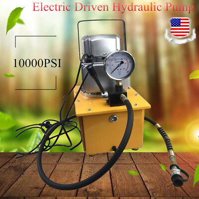 63mpa Electric Driven Hydraulic Pump With Single Acting Manual Valve 110v Usa