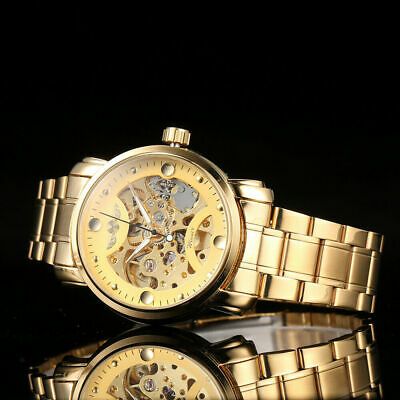 Winner Men Luxury Business Automatic Mechanical Watch Fashion Stainless C3F9