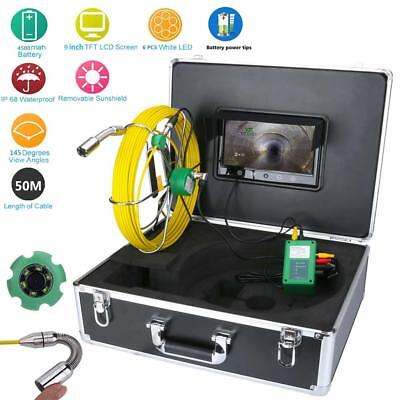 50m Pipe Inspection Video Camera Waterproof 9lcd Drain Pipe Sewer Inspection