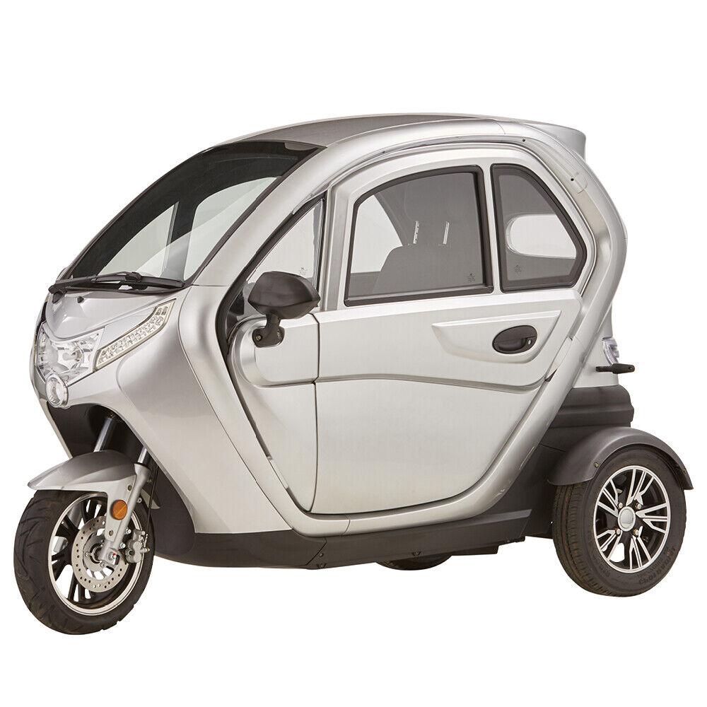 ECABINO eLizzy Dreirad Elektro Kabinenfahrzeug Kabinenroller E-Auto 25 km/h NEU