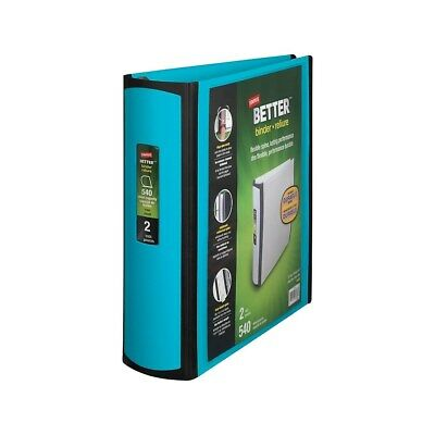 Staples Better 2-inch D 3-ring View Binder Teal 13470-cc 651743