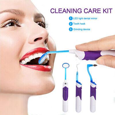 3 tlg. Elektrisch Zahnsteinentferner mit LED Zahnmedizin Reinigung Oral Care - Oral Care Reiniger