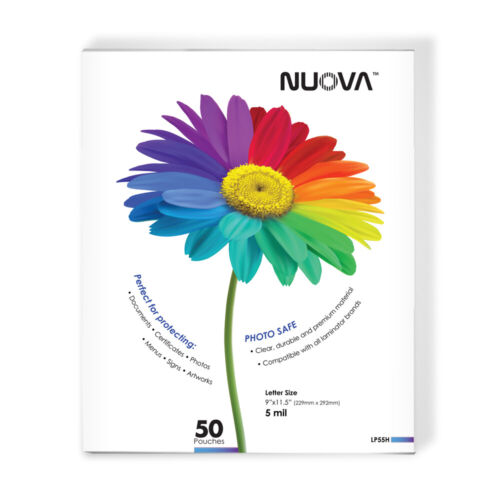 Nuova LP55H Thermal Laminating Pouches 9 x 11.5 Inches, Letter Size, 5 mil, 50-P