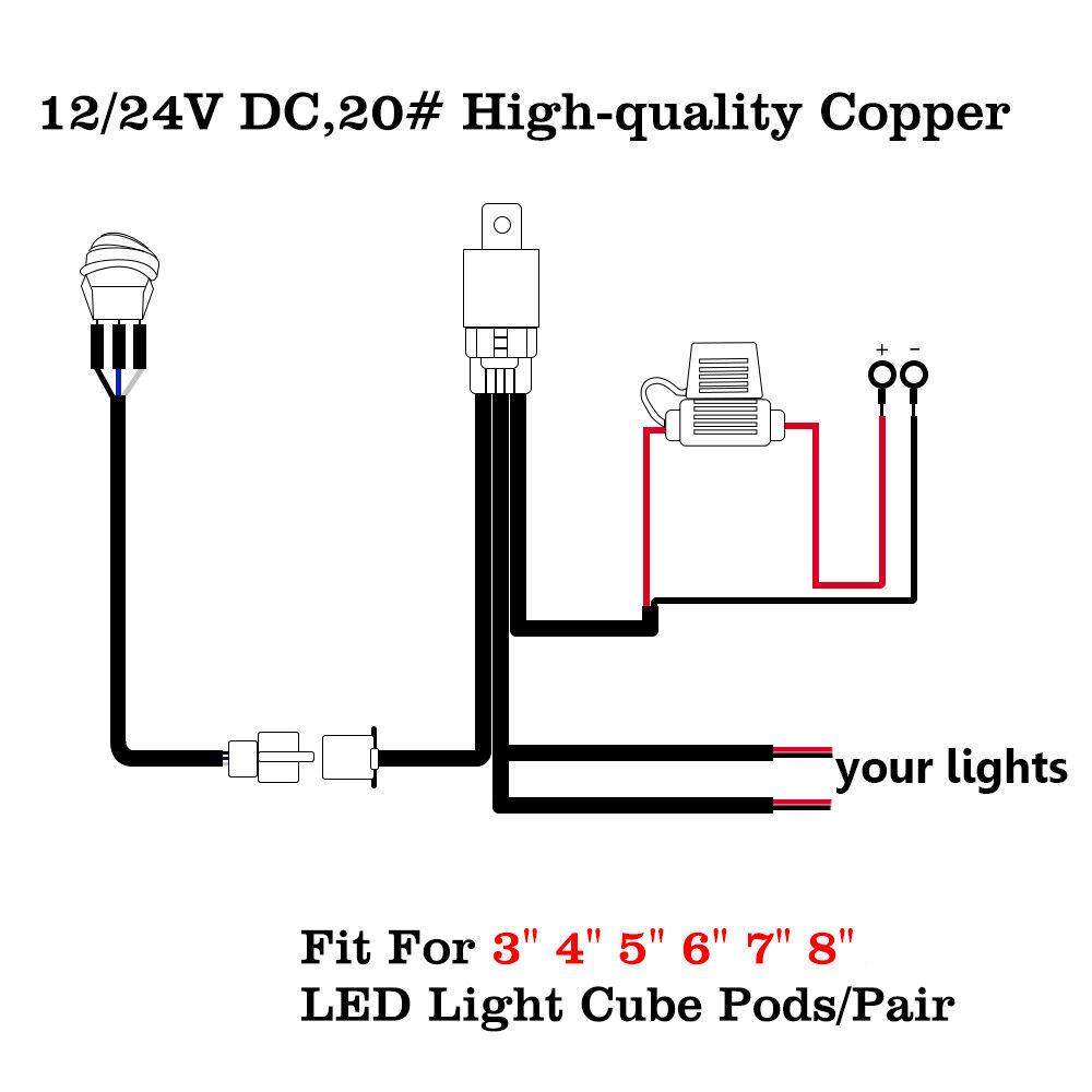 2 off switch led work light bar pods