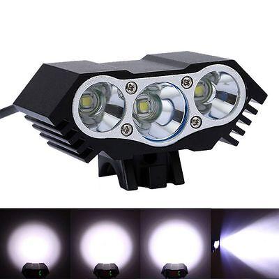 10000lm Super Bright 3 x CREE XM-L T6 LEDs Bike Waterresistant Headlight 4 Mode