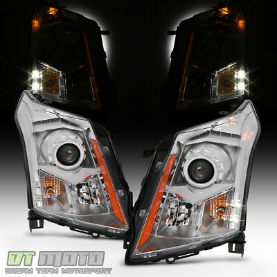 Left+Right Headlamps For 2010-2016 Cadillac SRX Factory Halogen Model Headlights