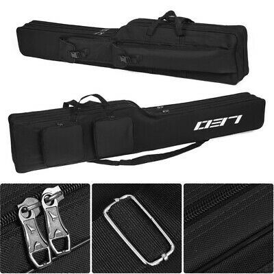 Fishing Rod Tackle Bag, 130cm/51.2 inches Oxford 2Layer Large Capacity UK F1I5