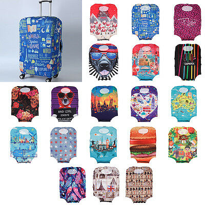 "Cool Spandex Elastic Travel Luggage Dust Cover Suitcase Protector Jacket 19""-21"""