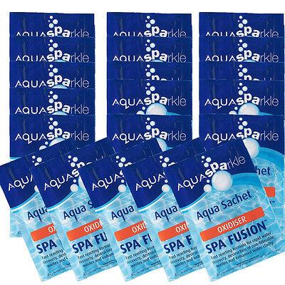 20 x Aquasparkle Spa Fusion Shock Treatment Hot Tub Pool Tubs Spas Oxidiser Lite