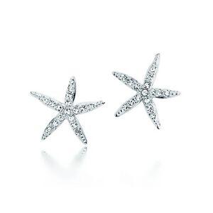 MYJS Holly Starfish Earirings Stud with Swarovski Crystals Statement Star WGP