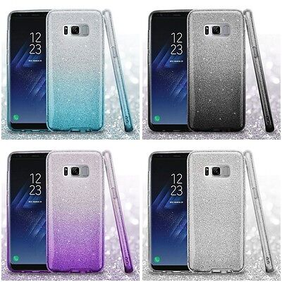 For Samsung Galaxy S8 Phone Case Cute Glitter Hybrid TPU Gradient Hard Cover