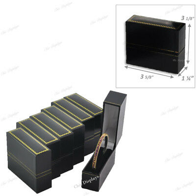 Bangle Bracelet Gift Boxes For Cuff Bracelet Jewelry Box For Bracelet Black 6-pc