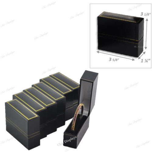 6pc Bangle Bracelet Gift Boxes for Cuff Bracelet Jewelry Box for Bracelet Black