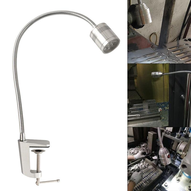 110V Long Arm LED Work Lamp Adjustable For Lathe CNC Lighting Screw Fixing US