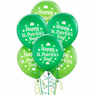 Lucky Irish Green Saint Patrick's Day Latex Balloons Party Supplies SHERMOCKS 15