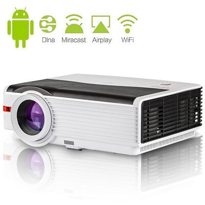 Smart Android WIFI Home Theater Projector Movie HDMI USB Wireless Game HD 1080P
