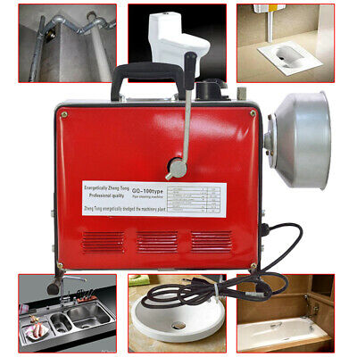 34-6 Commercial Sewage Spiral Pipe Drain Cleaner Cleaning Machine Hot