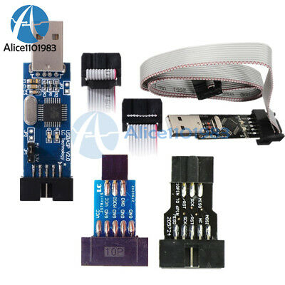 Usb 10pin To 6pin Adapter Stk500 Usbasp Avr Programmer Adapter Board For Arduino