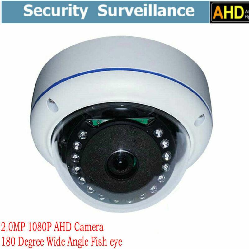 5 pcs 2.0MP 1080P TVI AHD CCTV Security Camera 180° Wide Angle Fisheye Lens IR